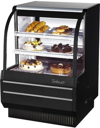 TCGB36BN_37_Curved_Glass_Refrigerated_Bakery_Display_Case_with_118_cu_ft_Capacity__Self_Cleaning_Condenser__Hydrocarbon_Refrigerants_and