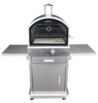 HCP16SS US Stove Outdoor Gas Oven  up to 16000 BTU  Stainless Steel Oven and Cart  Convenient Electronic