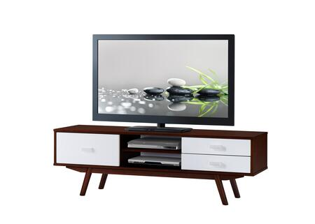 RTA-3654-WAL Retro Wood Veneer 65    TV stand with Storage.