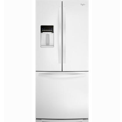 Whirlpool - 19.6 Cu. Ft. French Door Refrigerator with Thru-the-Door Water - White WRF560SEYW