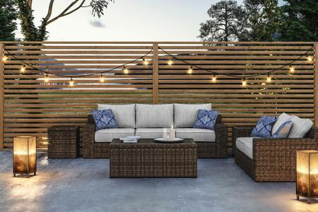 Alta Grande Collection P782-SLCT2ET 5-Piece Patio Set with Sofa  Loveseat  Cocktail Table and 2 End Tables  in