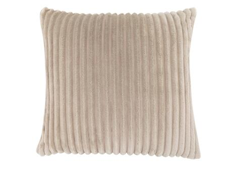 I 9354 18 inch  x 18 inch  Pillow with Textured Rib Cover in Beige - 1