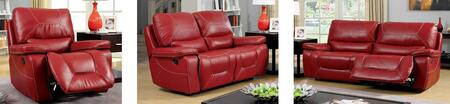 Newburg Collection CM6814RD-SLR 3-Piece Living Room Set with Motion Sofa  Motion Loveseat and Recliner in