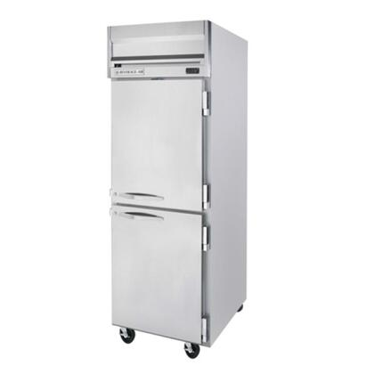HFP1-1HS Horizon Series One Section Solid Half Door Reach-In Freezer  24 cu.ft. capacity  Stainless Steel Front and Sides  Aluminum