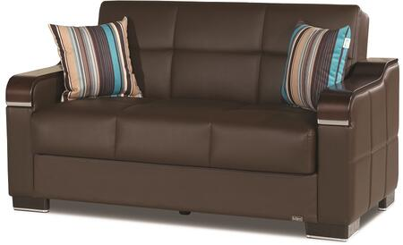 Uptown Collection UPTOWN LOVE SEAT BROWN PU 27-448 62