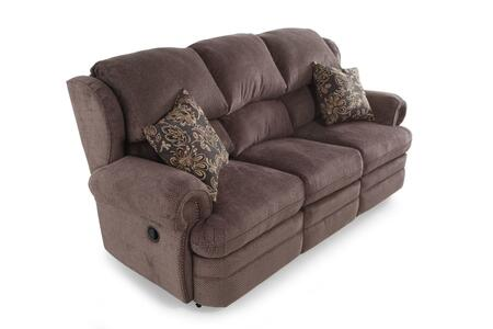 Hancock Collection 203-39/1426-14/1241-13 86 inch  Double Reclining Sofa with Fabric Upholstery  Rolled Arms  Nail Head Trim and Traditional Style in Viper