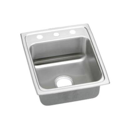 LRADQ1720501 Lustertone Drop In Single Bowl Stainless Steel Sink With 1