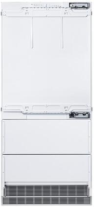"""36""""_Bottom_Freezer_Refrigerator_with_Door_Panels_and_Oval_Handles_in_Stainless"""