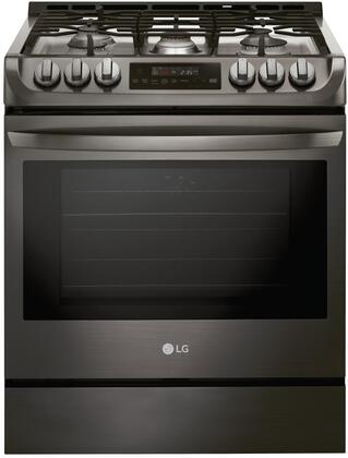 "LSG4511BD 30"" Slide-In Range with ProBake Convection  SuperBoil Burner  EasyClean and UltraHeat  in Black Stainless"
