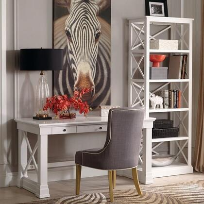 Johansson Collection 801381SET 3 PC Desk Set with Writing Desk + Chair + Bookcase in Antique White