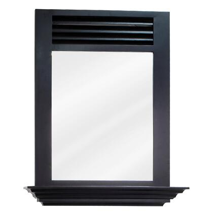 MIR079 Bath Elements 25.5 inch  x 30 inch  Espresso Lindley Mirror with 4 inch  shelf and Beveled