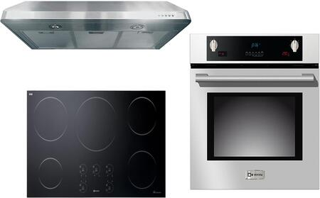 3-Piece Stainless Steel Kitchen Package with VECTI365 36 inch  Induction Smoothtop  VEBIEM3030SS 30 inch  Electric Single Wall Oven  and VEHOOD3610 36 inch  Under Cabinet