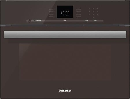 "DGC66001XLHVBR 24"" PureLine Series Combi Steam Oven with SensorTronic Controls  MultiSteam Technology  MasterChef Menus  and Lift Up Control Panel  in Truffle"