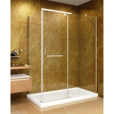 SD975-II-8-L 60 inch  x 35 inch  Shower Enclosure with Shower Base in Chrome Finish - Left Hand