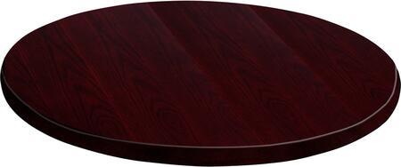 Flash Furniture GM-MAH-VEN-24RD-GG 24'' Round Veneer Table Top in Mahogany