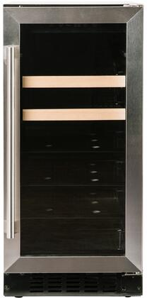 Azure A115BEV-S-15 Beverage Center with Stainless Trim Glass Door