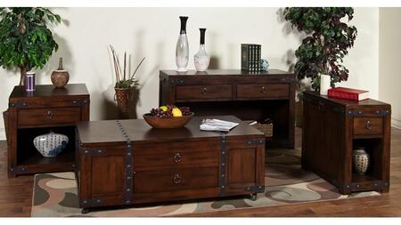 3211DC-CKIT1 Santa Fe Coffee Table with End Table and Sofa/Console Table in Dark Chocolate