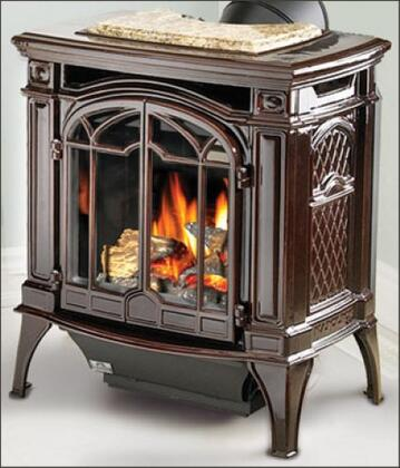 GDS25NM Bayfield 24 Cast Iron Direct Vent Stove  Electronic Ignition  Summer Moss Finish  Natural
