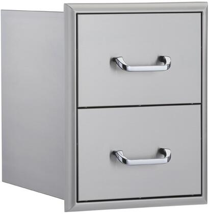 OCI-16DD 16 inch  Double Drawer Unit in Stainless