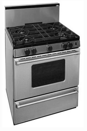 P30B3202PS 30 inch  Pro Series Gas Range with 4 Sealed Top Burners  Separate Broiler Compartment  17 000 BTU Oven Burner and Battery Spark Ignition in Stainless