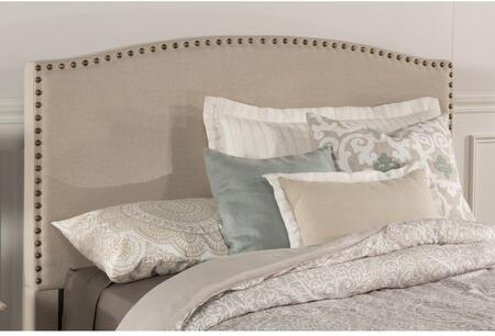 Kerstein Collection 1932HQT Queen Size Headboard with Rails  Fabric Upholstery  Decorative Nail Head Trim and Sturdy Wood Construction in Light