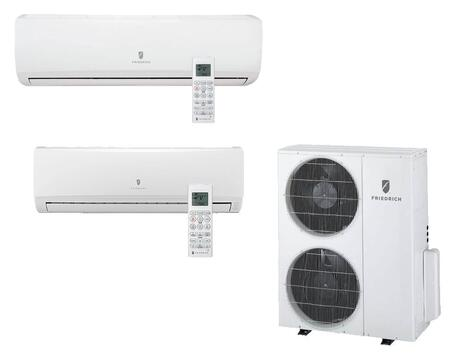 Multi-Zone Ductless Split System for 2 Rooms  with 30 000 BTUs  Inverter Technology  4-Way Auto Swing  Heat Pump  16.4 SEER  11.5 EER  and R410A