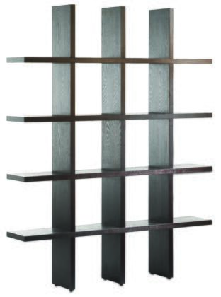 290013 Tic Tac Toe Tall Bookcase in