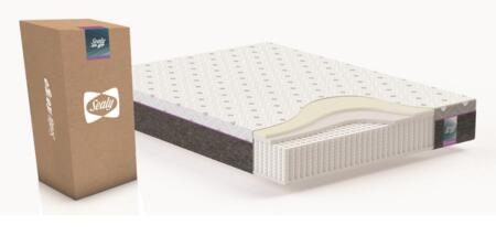 Sealy to Go Collection F03-00087-KG0 10.5 inch  Thick King Size Hybrid Mattress with Individually Pocketed Coil System  Knitted Jacquard Top Cover and Non-Woven