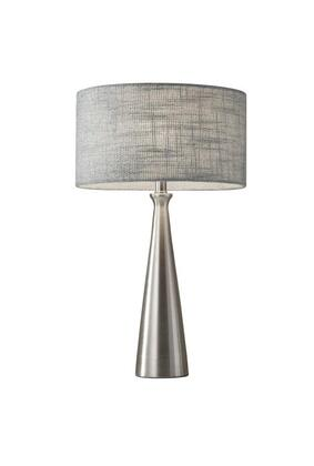 1517-22 Linda Table Lamp  Brushed Steel