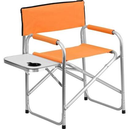 TY1104-OR-GG Aluminum Folding Camping Chair with Table and Drink Holder in