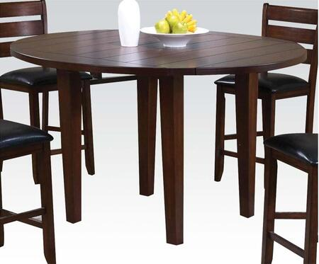 Urbana Collection 00684 60 Counter Height Dining Table with Drop Leaf Extension  Rubberwood Tapered Legs  Groover Line Maple Veneer Top and Birch Veneer