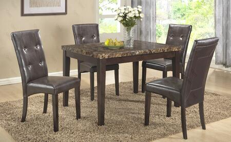 G0070TC 5 PC Bar Table Set with Bar Table + 4 Side Chairs in Brown
