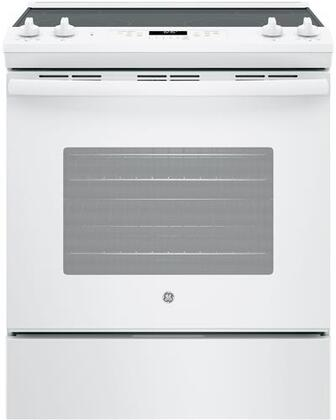 GE JS645DLWW 5.3 Cu. Ft. White Slide-in Electric Range