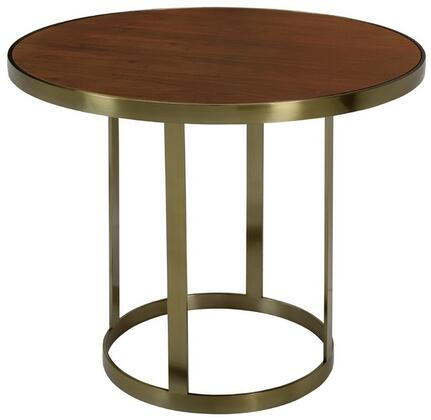 2310104NW Caroline Counter Height Dining Table with Natural Walnut Top and Brushed Champagne Stainless Steel