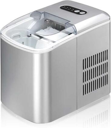 IM-124S 10 inch  Portable Ice Maker with 26 lb Daily Ice Production  1.3 lb Ice Storage Capacity  Self Clean Function  Ice Scoop  No Drain  in