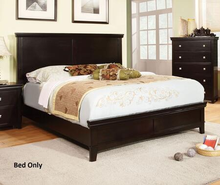 Spruce Collection CM7113EX-EK-BED Eastern King Size Platform Bed with Tapered Legs  Solid Wood and Wood Veneers Construction in Espresso