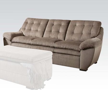 Devyn Collection 51020 Sofa with Tufted Cushions  Padded Arms and Bonded Leather Match Upholstery in Nimbus Seal