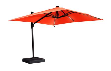 Oakengrove Collection P017-990 106 Large Cantilever Outdoor Umbrella with Solar Powered LED Lights with On-Off Switch  Nuvella Solution Dyed Fabric and 360