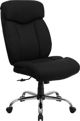 GO-1235-BK-FAB-GG HERCULES Series 400 lb. Capacity Big & Tall Black Fabric Office