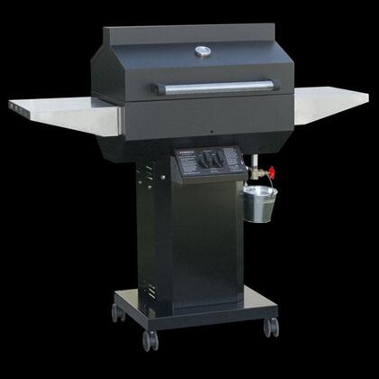 PFMGBFABP Liquid Propane Grill with 25 000 BTUs  400 sq. in. Primary Cooking Area and Grill Head  3-Piece Column and Base with 4 Locking Casters in Black