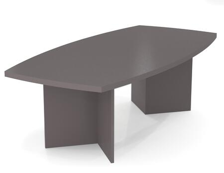 "65776-59 BESTAR 95.5"" Boat Shaped Conference Table with 1 3/4 Melamine Top in"
