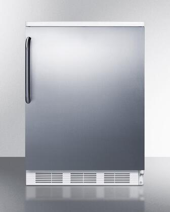 FF6BI7SSTB 24 inch  Commercially Approved All-Refrigerator with 5.5 Cu. Ft. Capacity  Automatic Defrost  Adjustable Shelves  Crisper  and Interior Light: Stainless