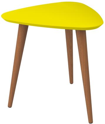 89853 Utopia 19.68 inch  High Triangle End Table With Splayed Wooden Legs in