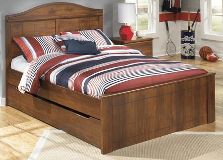 B22887848660B10012 Barchan Collection Full Size Panel Bed with Trundle and Timber Cherry Grain in Warm