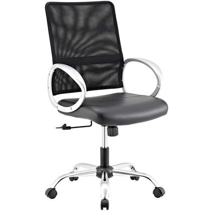 Command Collection EEI-2861-BLK Office Chair with Adjustable Height  Swivel Seat  Tension Control Knob  Five Dual Wheel Casters  Chrome-Plated Steel Base  Mesh