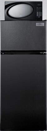 Summit MRF1119B Refrigerator Microwave Combination, Black