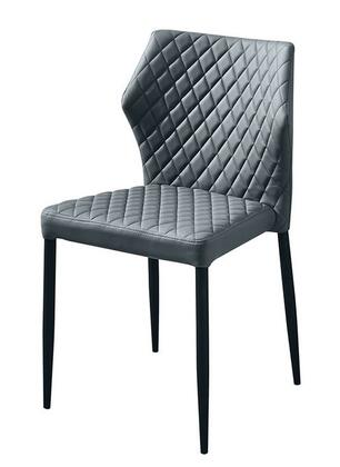 MILODCGR4PK_Milo_Collection_Dining_Chair_(Sets_of_4)_with_Grey_Diamond_Tufted_Leatherette__Grey_Powder_Coat_Legs_and_Polyester_Fibers