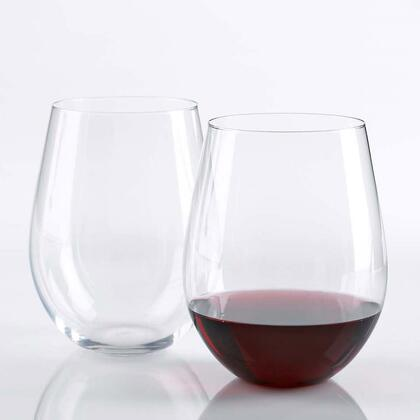 07030204 Wine Enthusiast U Cabernet Stemless Wine Glasses(Set of