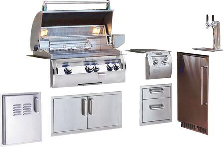 Grill Package with E660I4EAP Built In Liquid Propane Grill  32814 Double Side Burner  53802SC 15