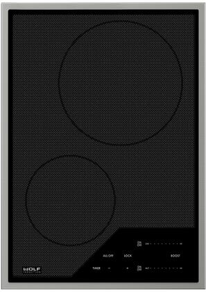 CI152TFS 15 inch  Transitional Induction Cooktop with Magnetic Induction Technology  Cookware Sensing Guards  Black Ceramic Glass Surface  and Illuminated White LED